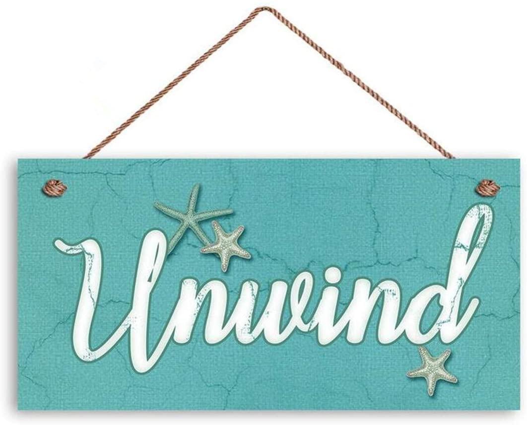 MAIYUAN Unwind Sign, Beach Decor, Bathroom Sign, 6