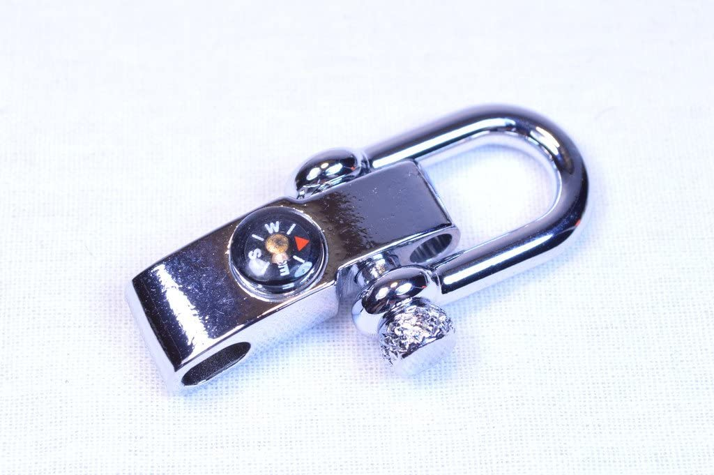 Bored Paracord Stainless Steel Adjustable Compass Shackle - 50 Pack