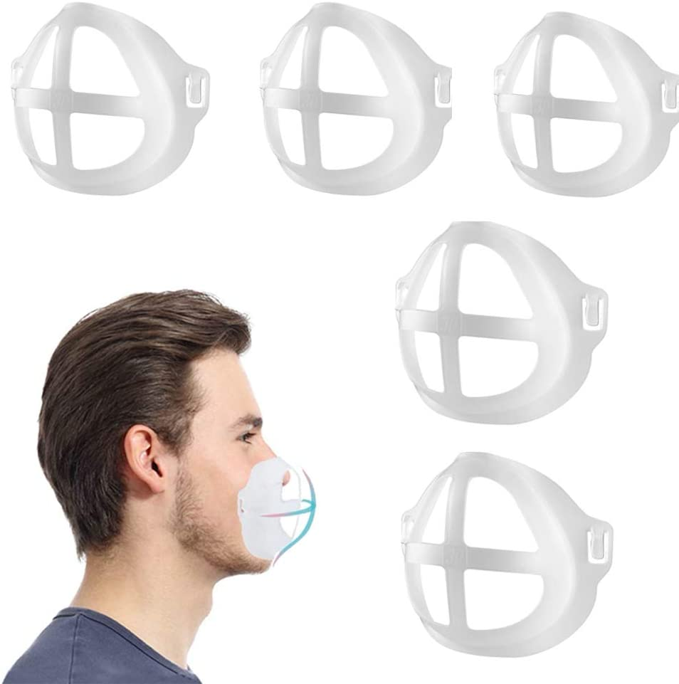 5 Pack 3D Inner Mask Support Bracket for Masks, Lipstick Protector Stand Nose Protection Keep smoothly and Cool