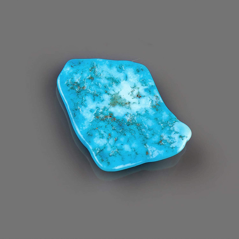 Jaguar Gems Genuine Turquoise Gemstone, Polished Slice Crystals and Gemstones, Jewelry Making Supplies, Loose Crystal, Chakra Healing, December Birthstone, Good Luck Stone