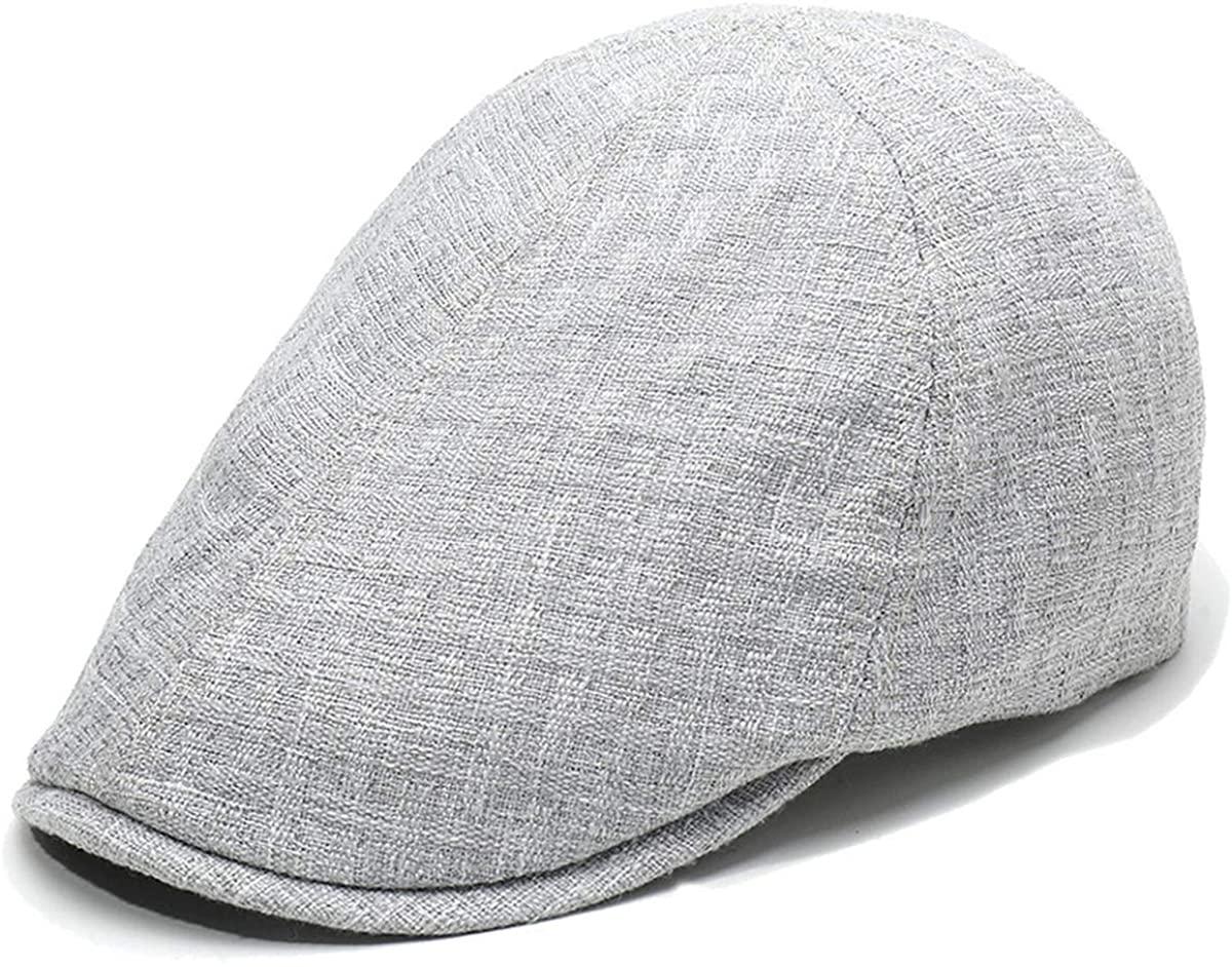Mongous Classic Cotton Linen Flat Ivy Gatsby Newsboy Driving Hat Adjustable Cap