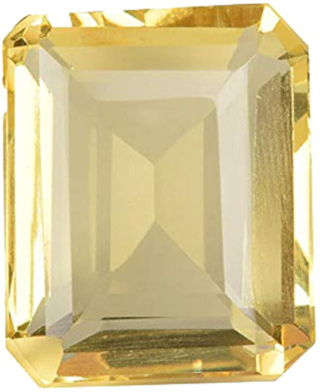 Beautiful Yellow Citrine 106.15 Ct. Perfect Emerald Cut Loose Gemstone for Jewelry Making