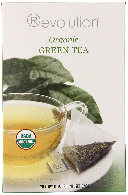 Revolution Tea - Organic Green Tea | Premium Full Leaf Infuser Teabags - Brain Health (20 Bags Each - 6 Pack)