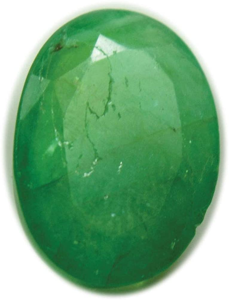 2.9 Carat Genuine Zambian Emerald Loose Energized Gemstone Oval Shape for Astrology Purpose at Wholesale
