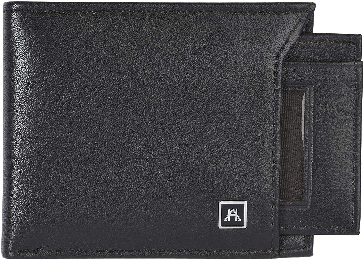 A&H Leather Goods RFID Men's Removable ID Bifold Wallet Full Grain Leather