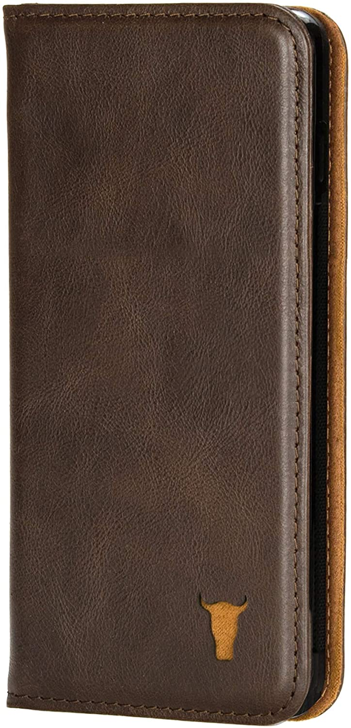TORRO Cell Phone Case Compatible with Samsung S20 Ultra Genuine Quality Leather Flip Cover with [Card Slots] [Horizontal Viewing Stand] [Durable Frame] 6.9 Inch 2020 Release (Dark Brown)