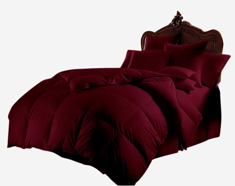 All Season Luxurious 1000 Series,Luxury Goose Down Alternative Comforter, Emperor-King Size - Quilt 1 Pc Comforter -100% Egyptian Cotton Comforter, Hotel Quality 400 GSM, Burgundy (92