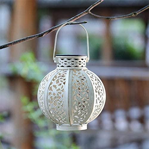 Solar Lights Outdoor Hanging Solar Lanterns Garden Outdoor Solar Lights with Handle Retro Metal Waterproof for Patio Yard Pathway Decorative (Bronze)
