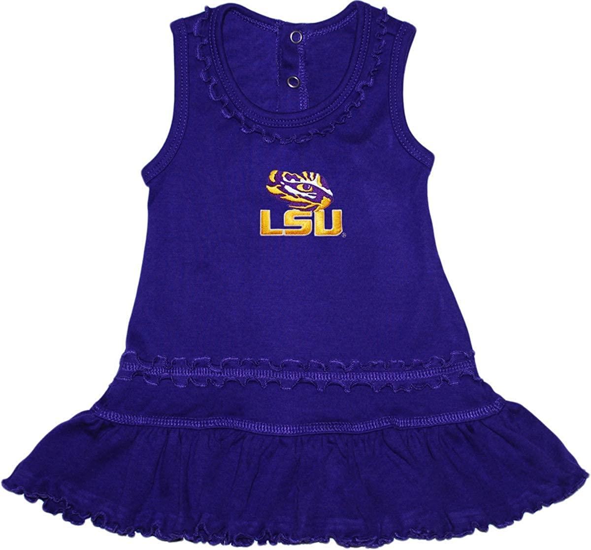 Louisiana State University LSU Tiger Eye Ruffled Tank Top Dress with Bloomer Set