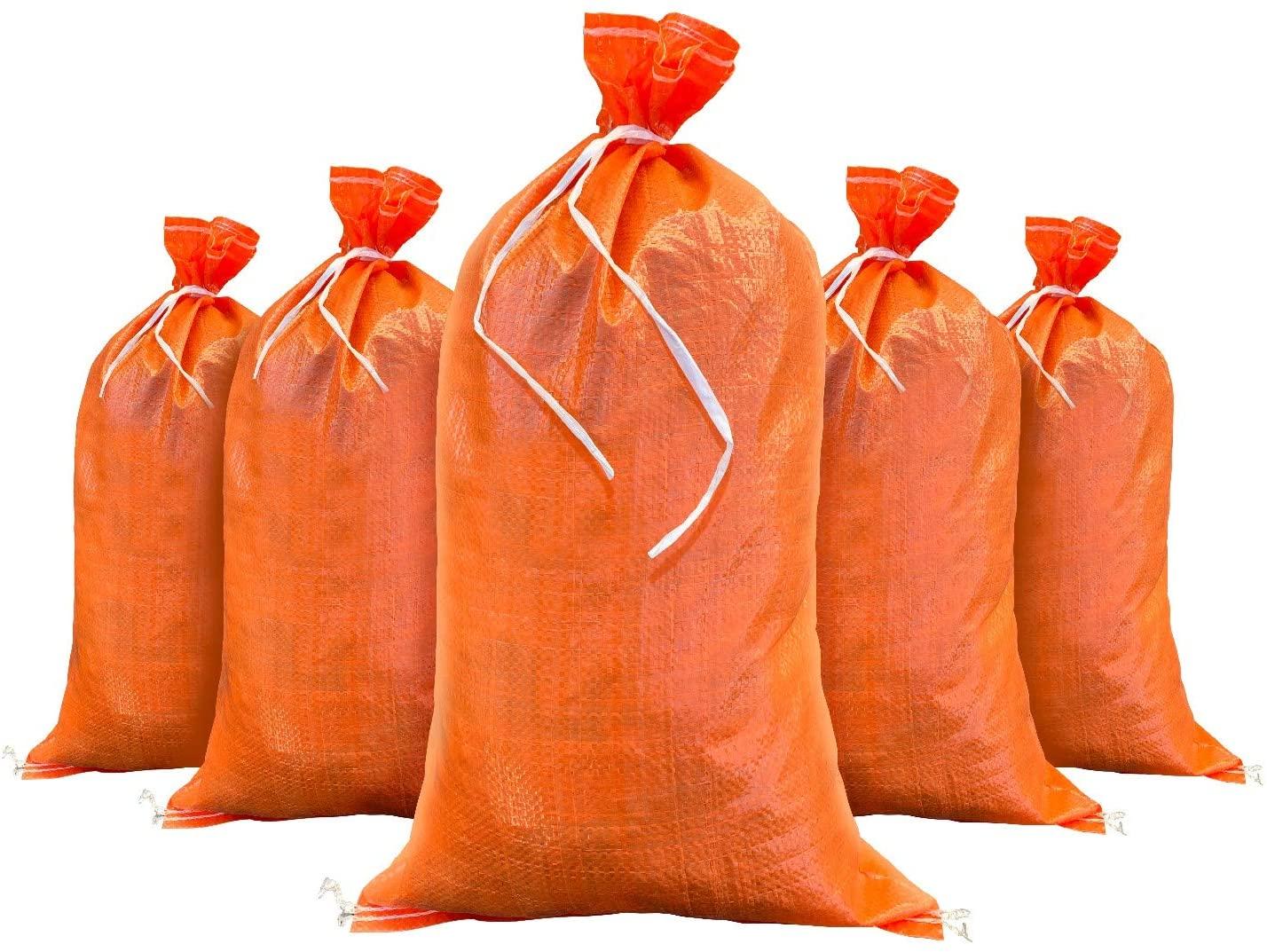 Sandbags for Flooding - Size: 14 Inch x 26 Inch - Orange - Sand Bag - Flood Water Barrier - Water Curb - Tent Store Bags by Sandbaggy (1000 Orange Sandbags)