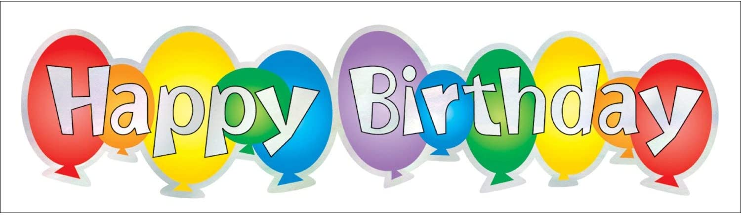 Hambly Silver Foil Stickers, Happy Birthday (25 Sheets)