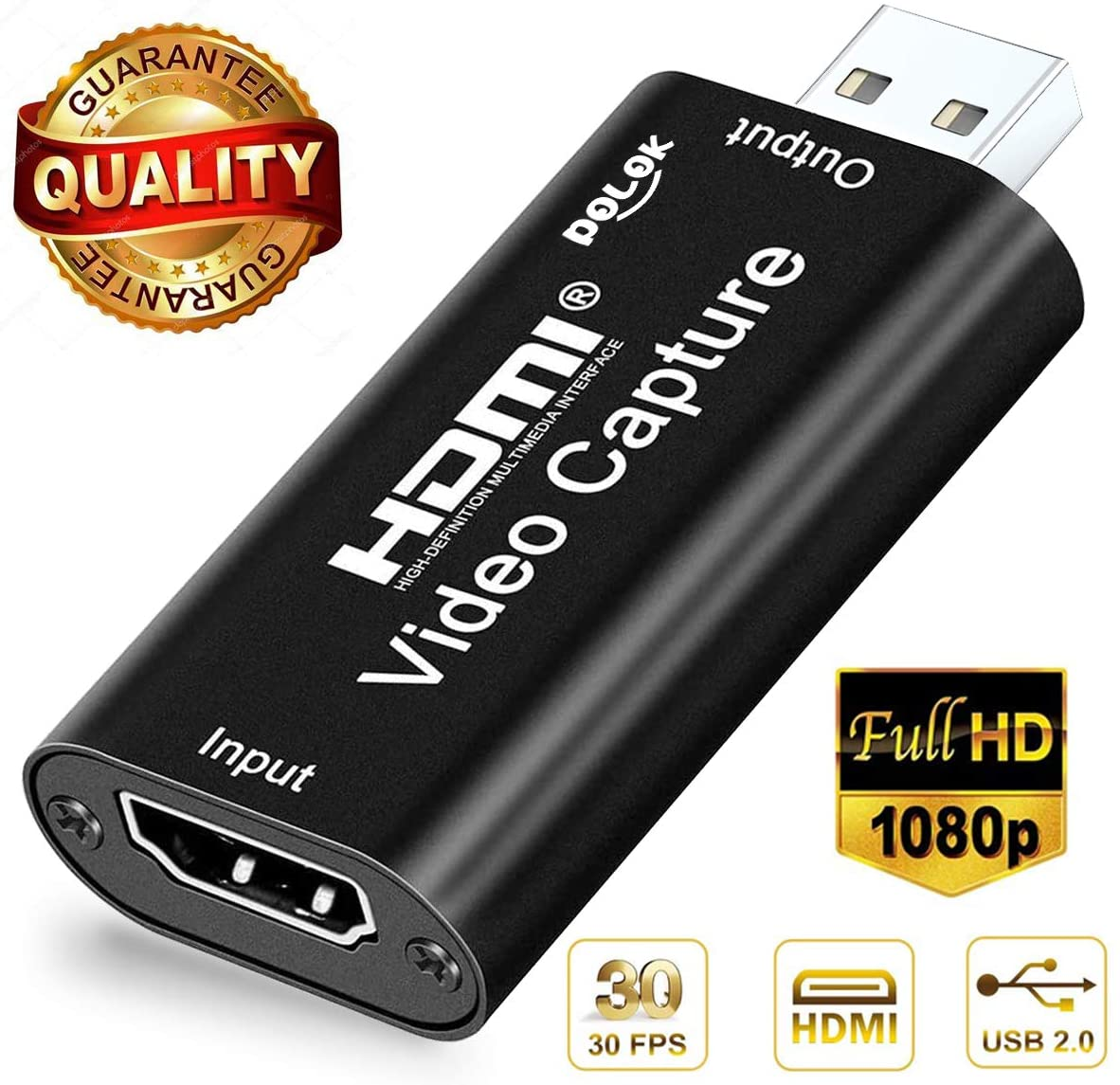 HDMI Video Capture Cards, HDMI to USB Audio Video Capture Cards, Full HD 1080P Recording, Easily Connect DSLR, Camcorder, or Action Cam to PC or Mac for High Definition Acquisition, Live Broadcasting