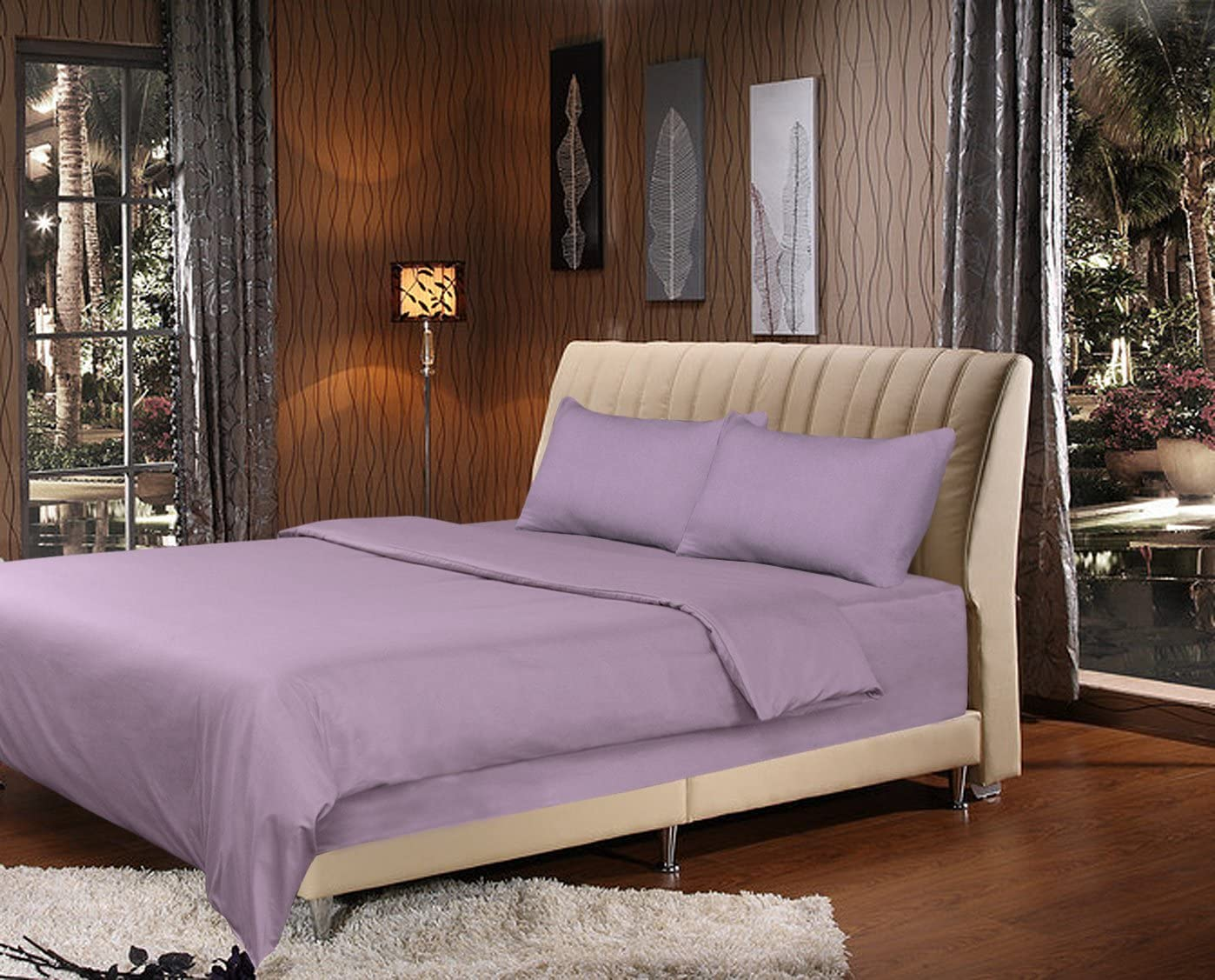 Tache 2 Piece Light Lavender Lilac Purple Duvet Cover Set-Twin XL