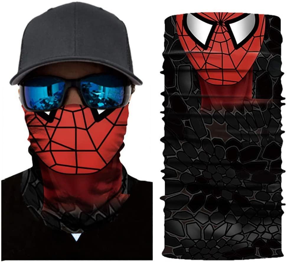 Super Hero Bandanas Peter Parker Half Face Mask Motorcycle Bandanas Dust Face Mask Fishing Scarf