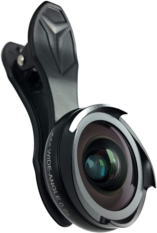 Phone Camera Wide Angle Lens 0.6X and 10x Macro HD 4K 2 in 1 Travel kit Detachable Clear Vision no Dark Circle