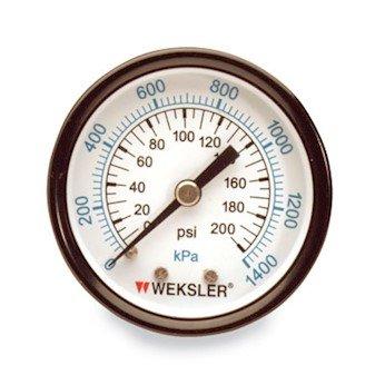 Weksler UA1.5 Dual Scale Gauge 1.5 vac/15p 1/8cbm brnze