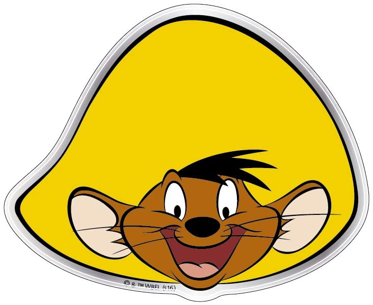 Fan Emblems Looney Tunes Speedy Gonzales Car Decal Domed/Multicolor/Chrome Finish, Automotive Emblem Sticker Easily Applies to Cars, Trucks, Motorcycles, Laptops, Cellphones, Windows, Almost Anything