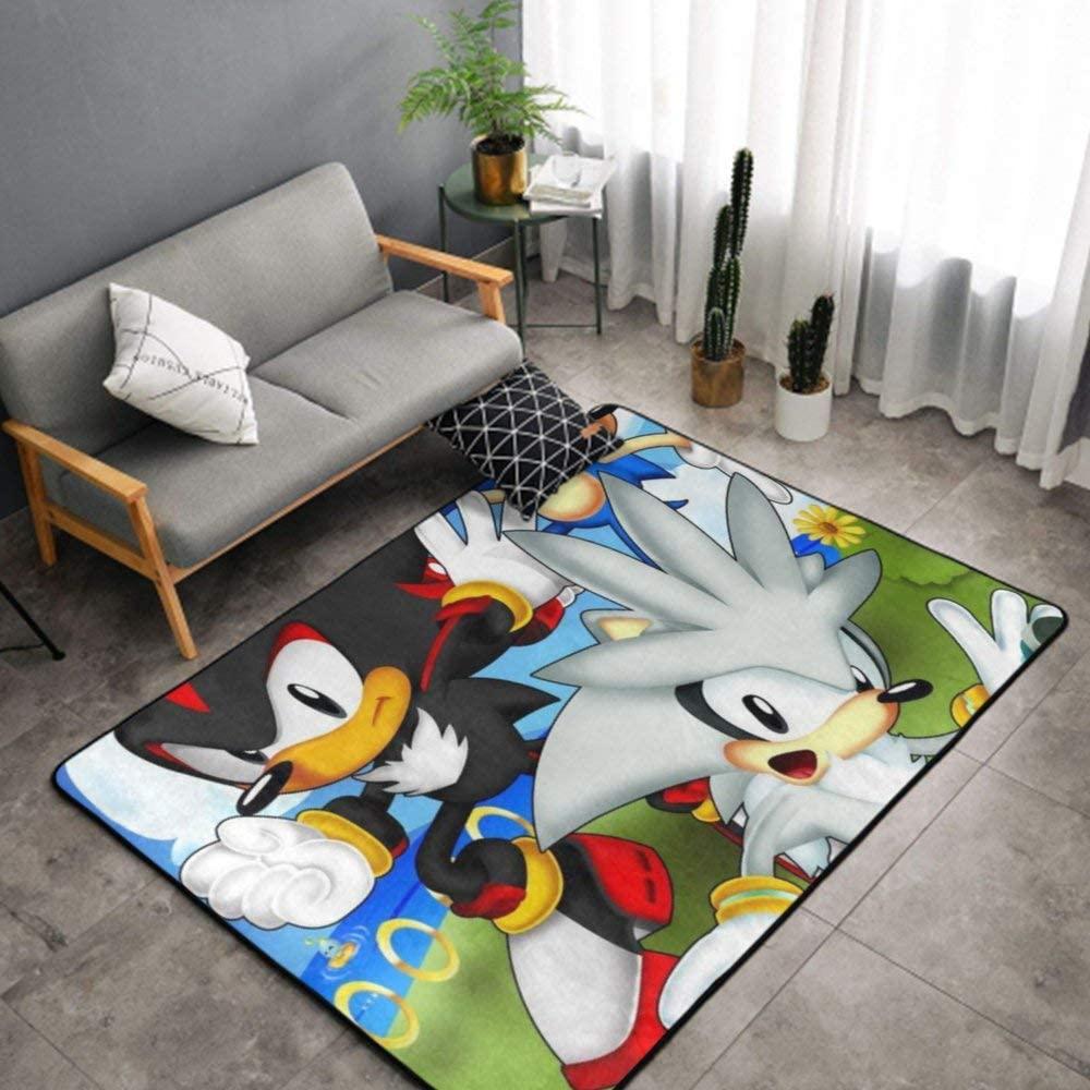 NiYoung Anime Character Sonic. The Hedgehog Kitchen Rug, Bedroom Living Room Kitchen Rug, Doormat Floor Mat Nursery Rugs, Kids Children Play Mat Bath Mat, Throw Rugs Runner Exercise Mat