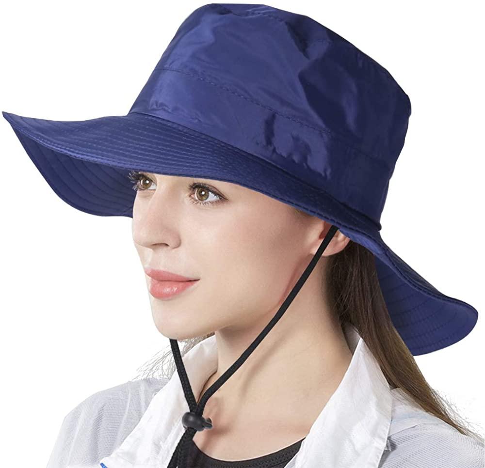 Women's Sun Protection Hat Wide Brim Bucket Hats Boonie Cap Safari Hiking Beach Fishing Hat