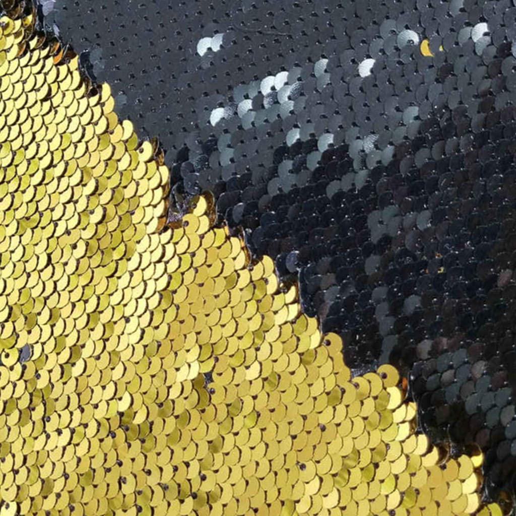 Sewing Fabric by The Yard Gold to Black Changing Color Fabric Reversible Sequin Fabric for Wedding Dress Reversible Sequin Pillow Fabric Blonde