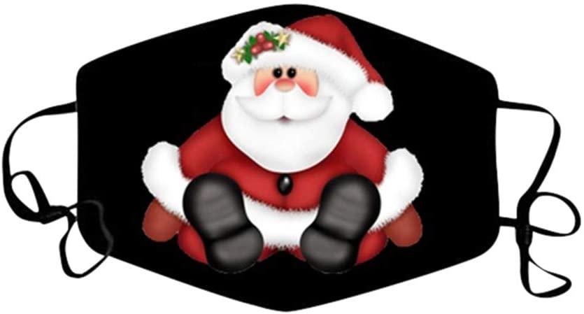 ShaggyDogz Adults Christmas Pattern Cartoons Breathable Washable Reusable Bandanas Unisex for Woman Man Comfortable Costume Outdoor Daily Wear