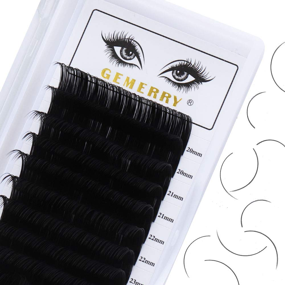 16 Rows Eyelash Extensions Individual Classic Lash Tray 0.15 C curl 7-15mm Mixed Length Individual Lashes Lash Extensions Supplies Mega Volume by GEMERRY (0.15-c curl-mix 7-15mm)