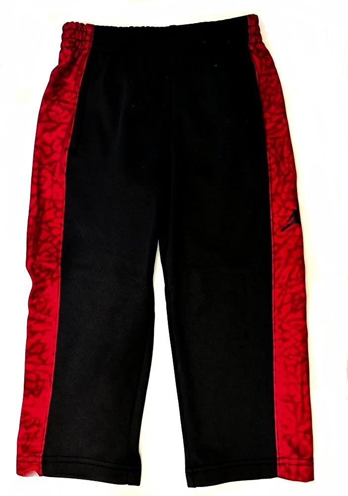 Nike Air Jordan Boys Therma-Fit Track Pants - Black/Gym Red (2T)