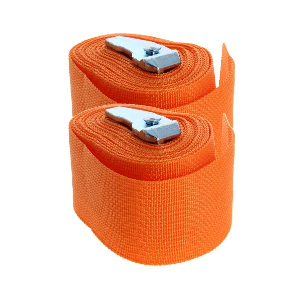 MroMax 3.5M x 5cm Lashing Strap Cargo Tie Down Straps with Cam Lock Buckle 150Kg Work Load, Orange 2pcs