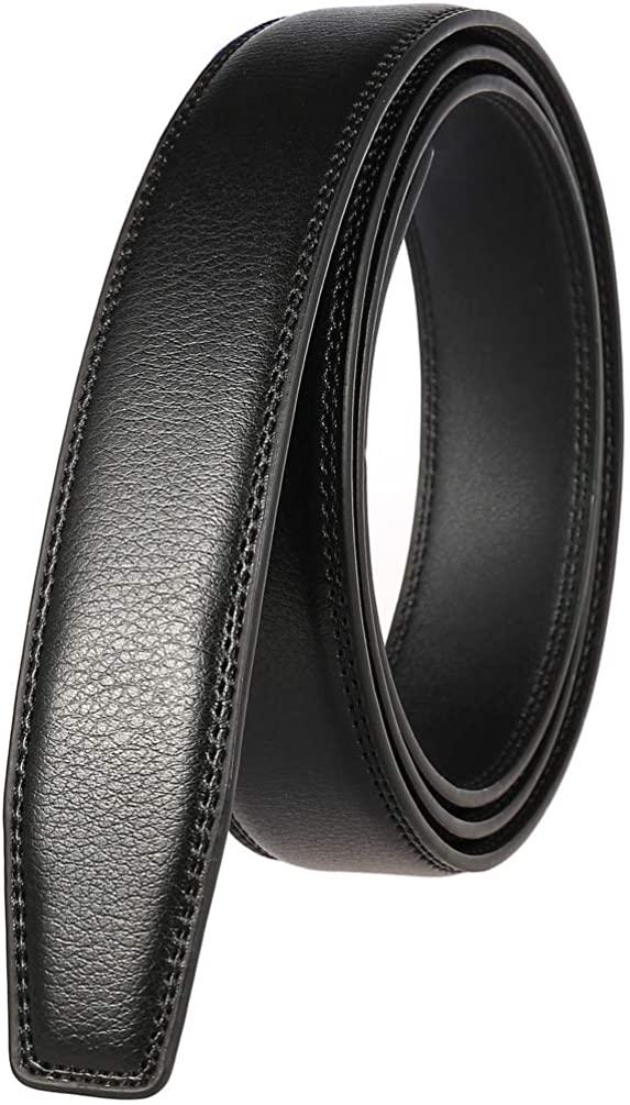 Real Leather Belts for Mens Dress Ratchet Belt Adjustable Industrial Click Buckles Cowboy Mans