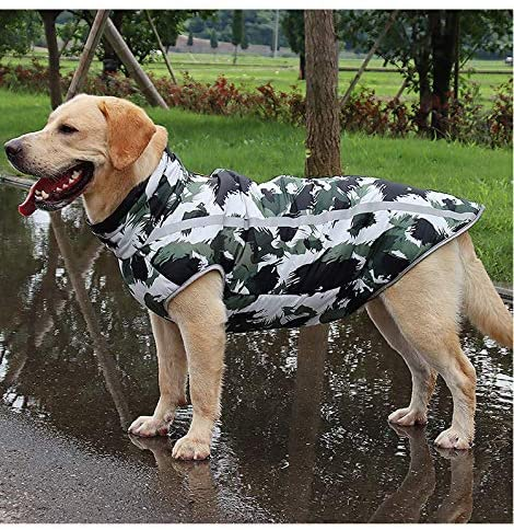 3MNSCD Large Dog Clothes,Camo Dog Jacket Coat for Big Dogs,Pet Warm Winter Vest Apparel, Cute Dog Outfits Costumes for Medium and Large Dogs Camouflage Coat