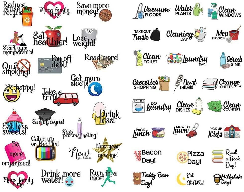 Seasonstorm Daily Life Words Kawaii Aesthetic Pastel Art Agenda Journal Planner Stationery Stickers