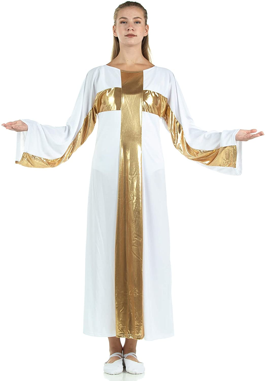 Danzcue Girl's Cross Robe Worship Dress