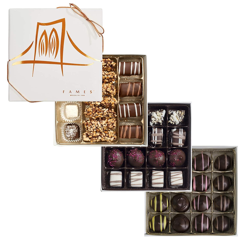 Dark Chocolate Assortment Gift Box - 3 Assorted Chocolate Gift Boxes, 47 pc, Kosher