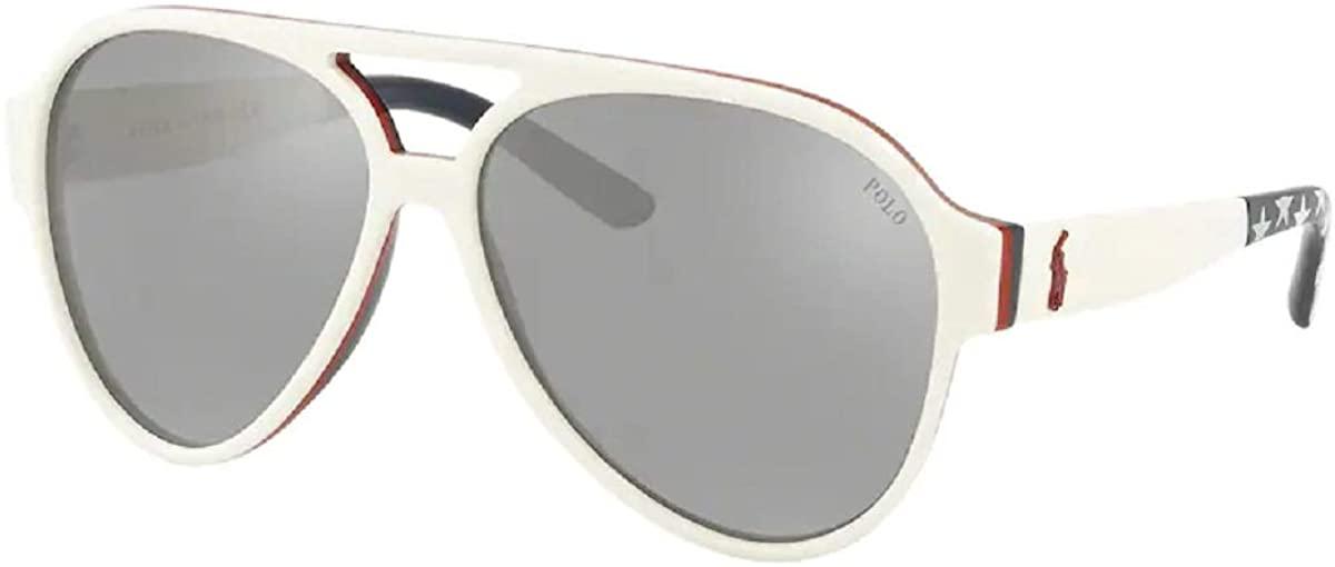 Polo Ralph Lauren PH4130 Pilot Sunglasses For Men+FREE Complimentary Eyewear Care Kit