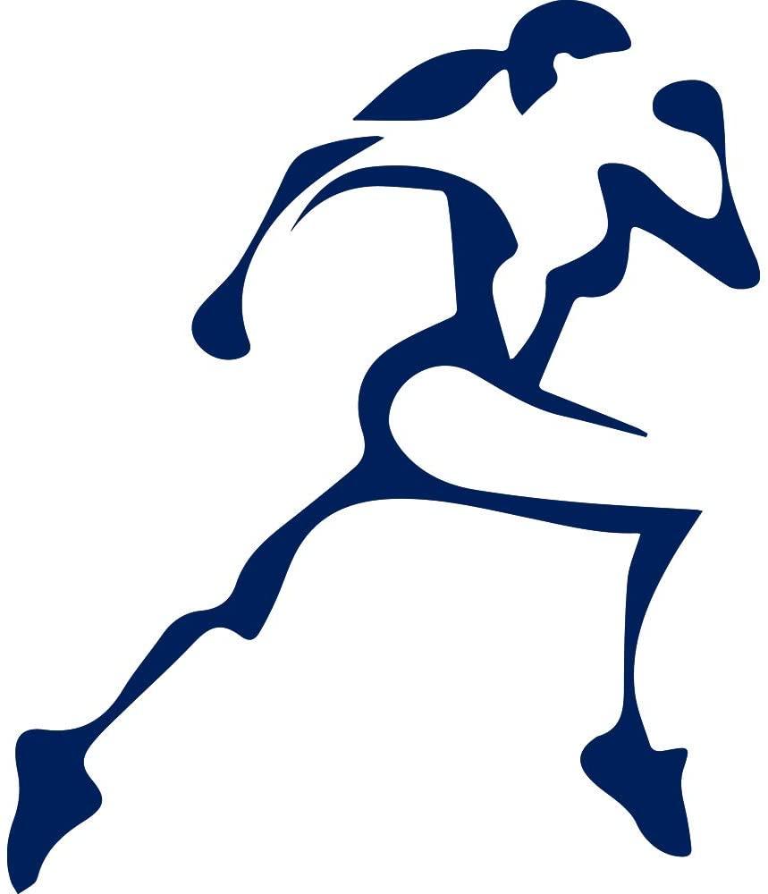 NBFU DECALS Girl Running 13.1 Half Marathon (Navy Blue) (Set of 2) Premium Waterproof Vinyl Decal Stickers for Laptop Phone Accessory Helmet Car Window Bumper Mug Tuber Cup Door Wall Decoration
