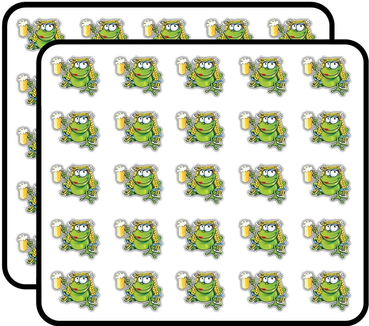 Sexy Frog Beer Cartoon Sticker for Scrapbooking, Calendars, Arts, Kids DIY Crafts, Album, Bullet Journals 50 Pack