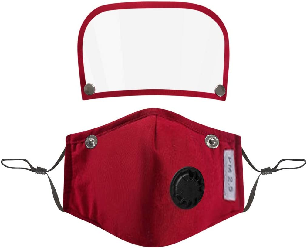Kids' Child Face Bandana with Filter and Detachable Eye Shield