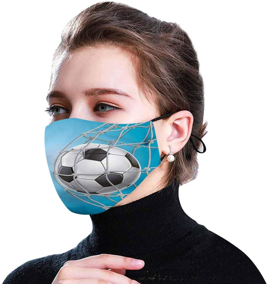 Reusable Washable Face_Mask with filter, Adjustable and Breathable Face Health Protection Dust-proof Covering with Replaceable Active Carbon Filters