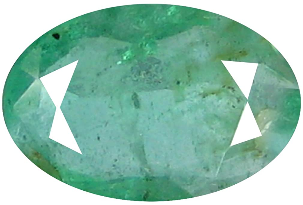 0.94 ct OVAL CUT (8 x 6 mm) UNHEATED COLOMBIAN EMERALD LOOSE GEMSTONE