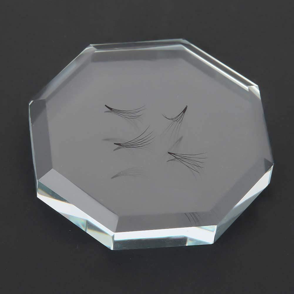 Reusable Eyelash Glue Holder, Eyelashes Grafting Pads, Eyelash Extension Supplies Glass Makeup Tool for Individual Beauty Salon
