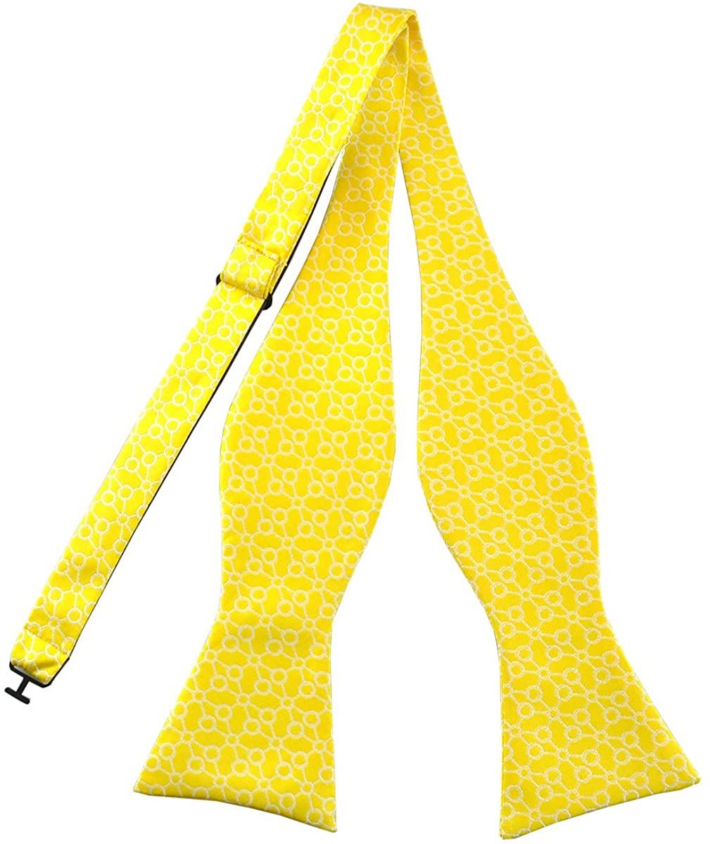 PenSee Mens Bow Ties Self Tie Novelty Geometric Figure Jacquard Woven Bowties, Various Styles