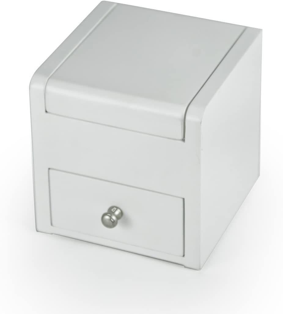 Matte White 18 Note Ballerina Musical Jewelry Box with Pull Out Drawer - Many Songs to Choose - Customizable On The Wings of Love Swiss (+$45)