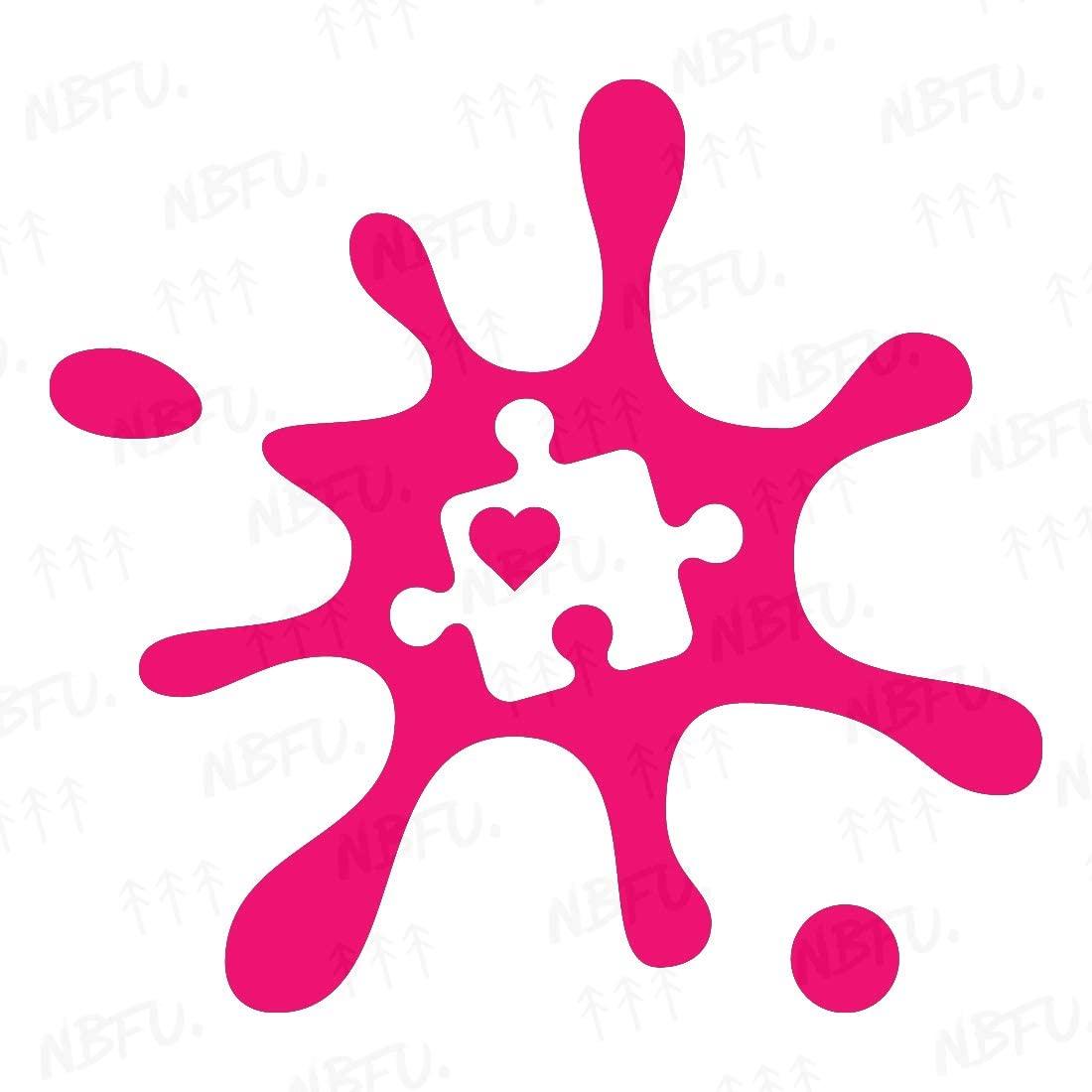 NBFU Decals Autism Puzzle Piece Heart 1 (Pink) (Set of 2) Premium Waterproof Vinyl Decal Stickers for Laptop Phone Accessory Helmet Car Window Bumper Mug Tuber Cup Door Wall Decoration