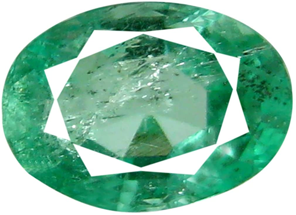 0.53 ct Oval Cut (6 x 4 mm) Green 100% Natural (Un-Heated) Emerald Natural Loose Gemstone