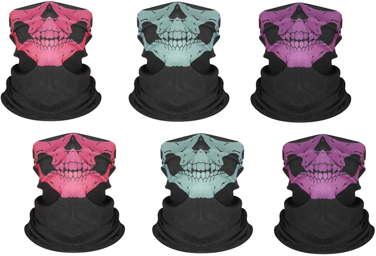 Galaxy Taper Neck Gaiter (6 Pcs),Face Cover Scarf, Cool Breathable Lightweight