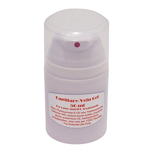 Gel de traitement des varices capillaires au laser.