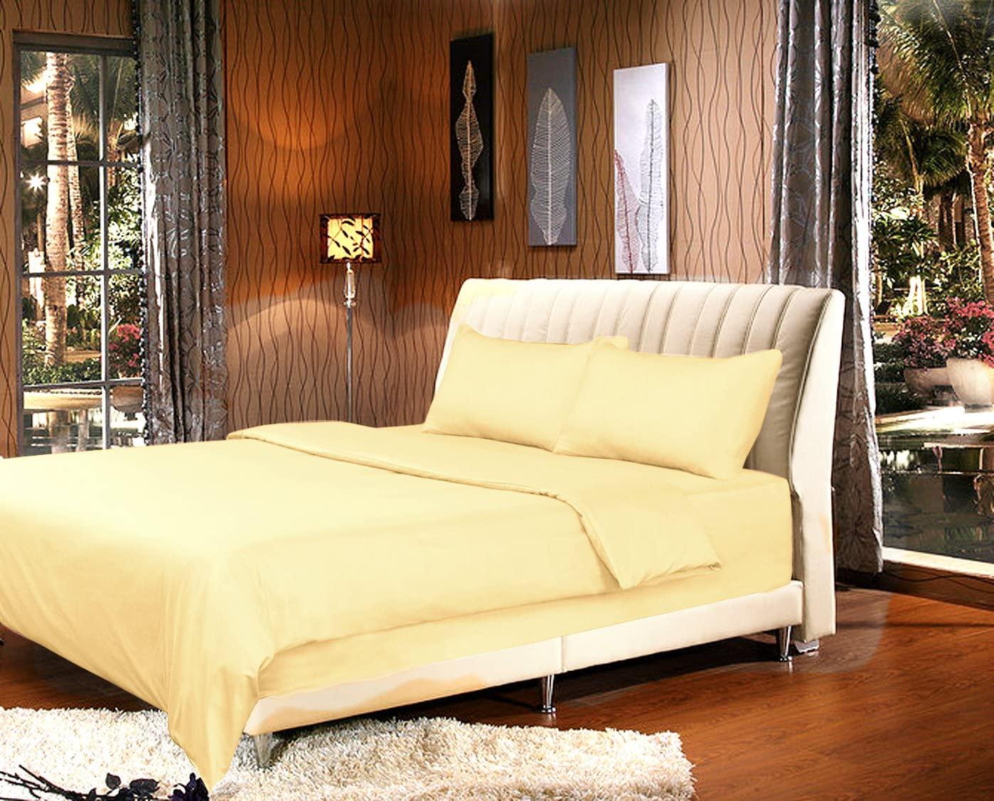 Tache Home Fashion Sunny Yellow Duvet Cover, Cal King