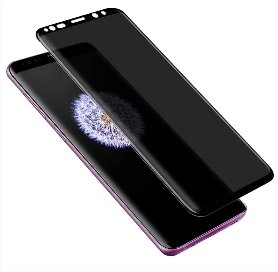 DariusQ Privacy Screen Protector Tempered Glass for Galaxy S9 Plus, DariusQ HD Privacy Screen Protector Replacement for Galaxy S9 Plus,Anti Spy,Anti-Scratch,Bubble Free (Black)