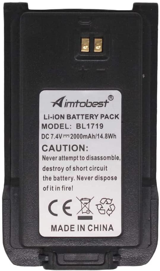 BL1719 2000mAh Li-ion Battery Compatible for HYTERA HYT Radio TC-508 TC508 TC-580 TC580 TC-500S TC-446S TC-518 TC-585 TC-560 TC-510