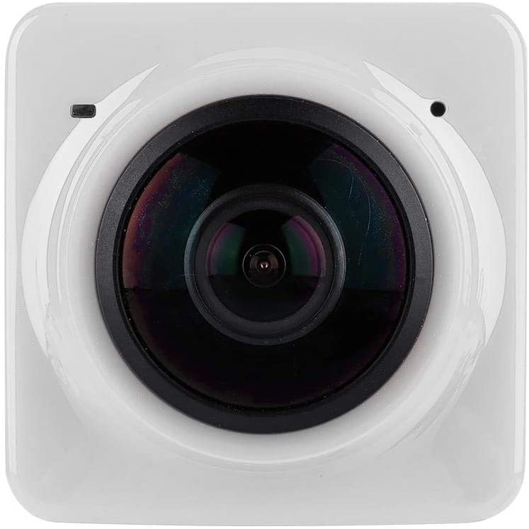 Outdoor Digital Camera, 360° HD Panoramic & Waterproof, WiFi Mini FPS Recording Camera, Support Two Devices Connect at The Same Time(White)